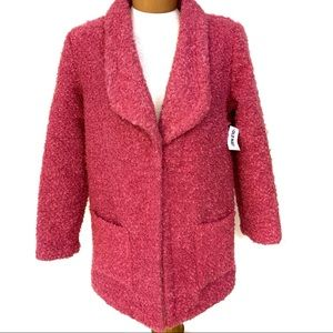 "NWT Old Navy Girls  ""Pink A Boo"" Boucle Knit Coat…"